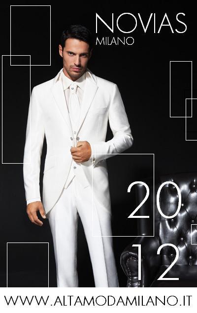 Abiti sposo milano 2012 NEWS collezioni NOVIAS cerimonia uomo elegante 07681c14bb5